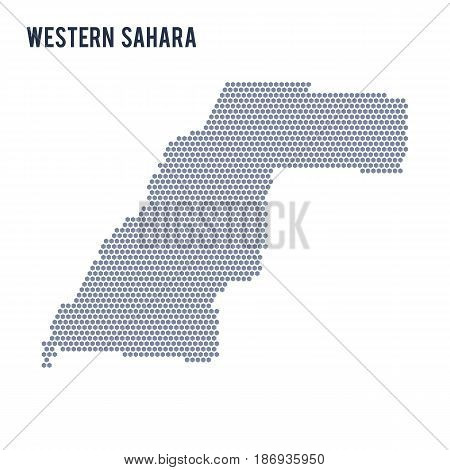 Vector Hexagon Map Of Western Sahara On A White Background