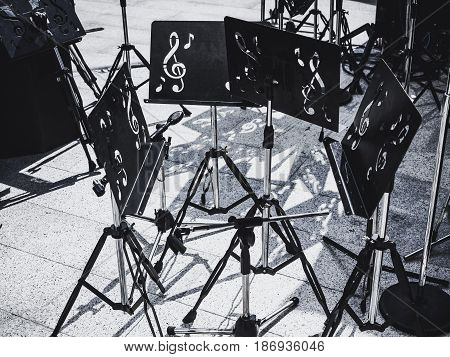 Music Stand Concert equipment on stage Art Entertainment