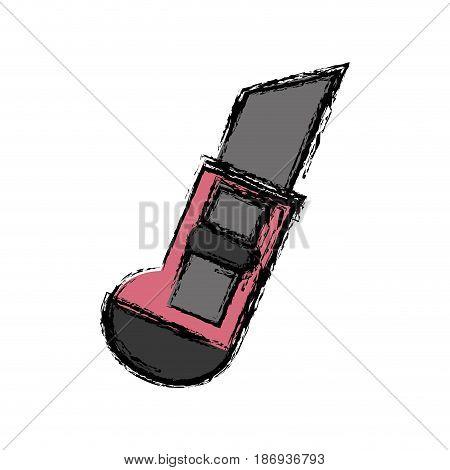 scapel utensil icon over white background. vector illustration
