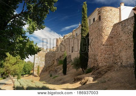 Arabic wall of medieval Toledo in Spain which 2000 years ago was also a Roman main city.