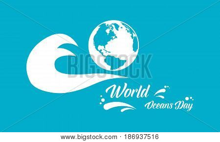 World ocean day vector art illustration collection stock