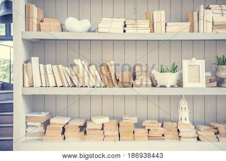 Bookshelf Books Education Knowledge Study