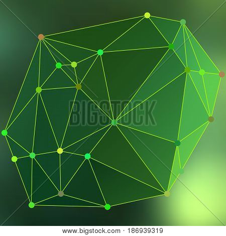 Modern Abstract Background Triangles 3D Effect Glowing Light103