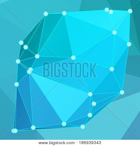 Modern Abstract Background Triangles 3D Effect Glowing Light105