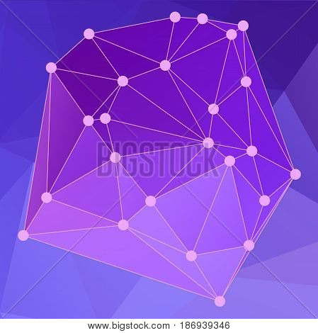 Modern Abstract Background Triangles 3D Effect Glowing Light106