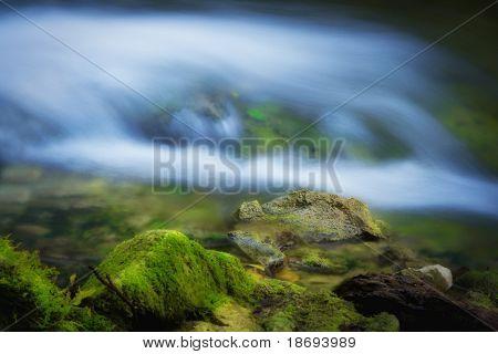 Beautiful waterfall s close up photo
