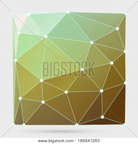 Modern Abstract Background Triangles 3D Effect Glowing Light109