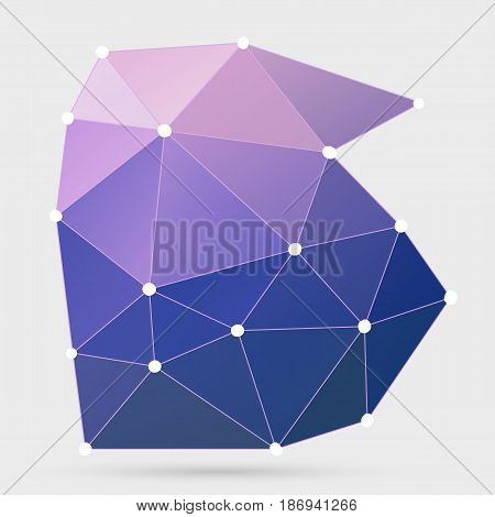 Modern Abstract Background Triangles 3D Effect Glowing Light110