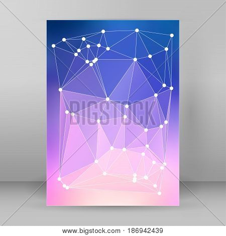 Modern Triangle Background 3D Effect Cover Page Brochure A4 Format01