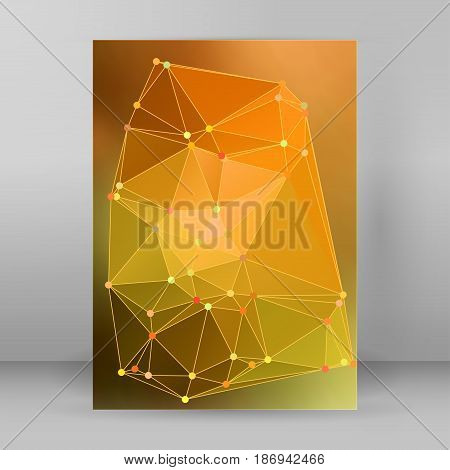 Modern Triangle Background 3D Effect Cover Page Brochure A4 Format04