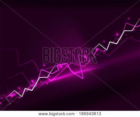 Neon purple lightning background template