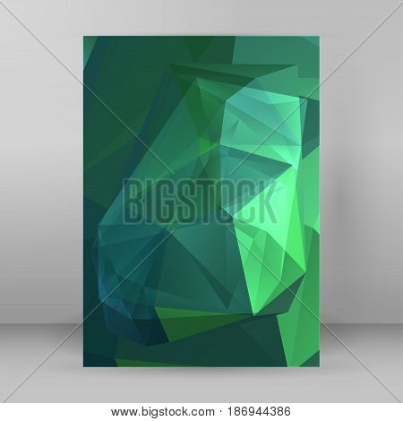Modern Triangle Background 3D Effect Cover Page Brochure A4 Format06