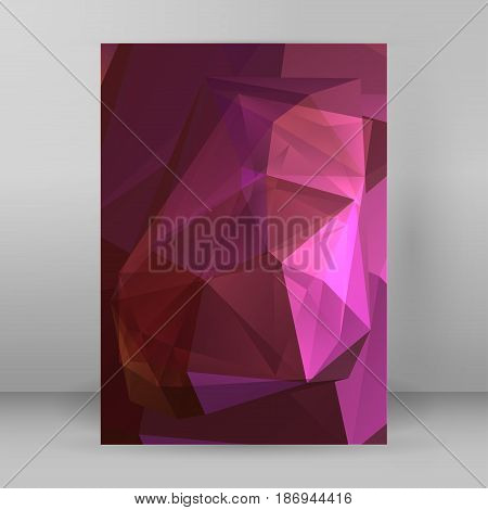 Modern Triangle Background 3D Effect Cover Page Brochure A4 Format07