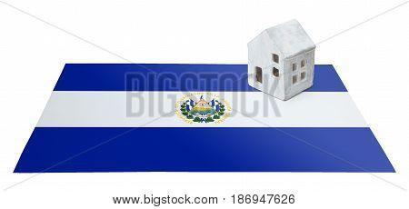 Small House On A Flag - El Salvador