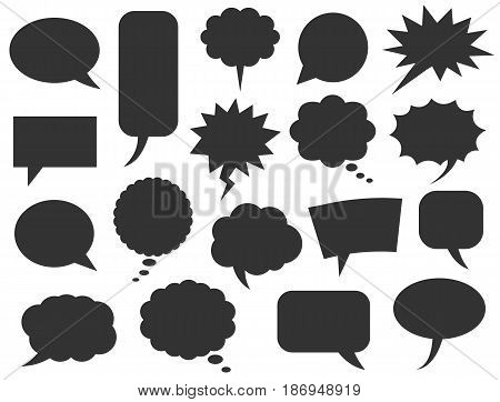 speech and communication bubbles on white background, vector illustration