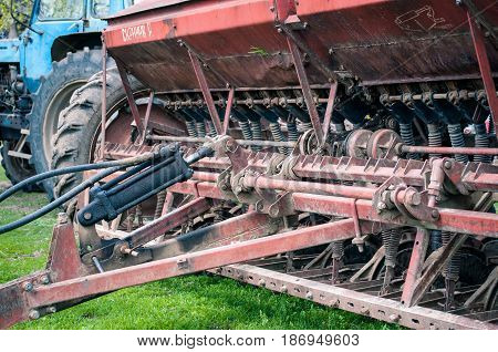 Old Not Working Agricultural Machinery For Crops