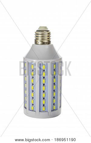 Economical LED lamp on a white background