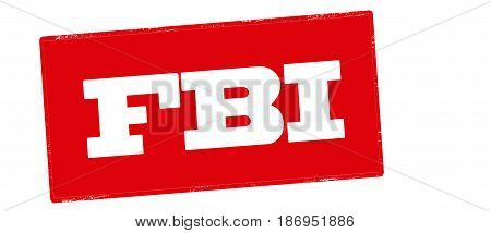 Stamp with text FBI inside vector illustration
