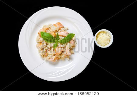 Risotto With Salmon In A Mild Creamy Sauce