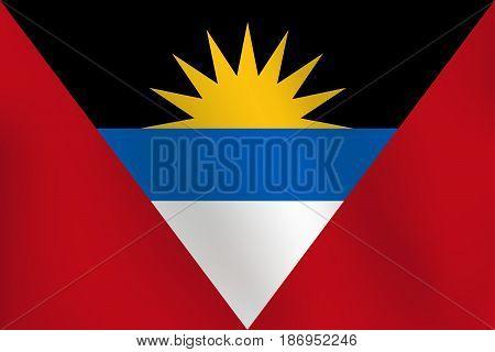 Flag of antigua and barbuda - Vector Illustration