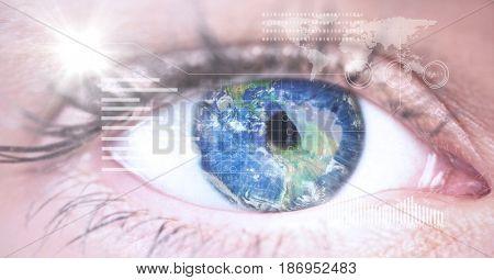 Digital composite of Digital composite image of eye interface