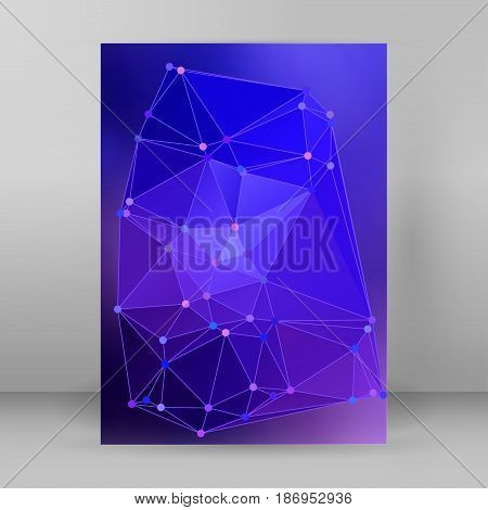 Modern Triangle Background 3D Effect Cover Page Brochure A4 Format08