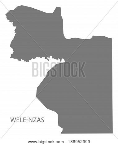 Wele-nzas Equatorial Guinea Map Grey Illustration Silhouette