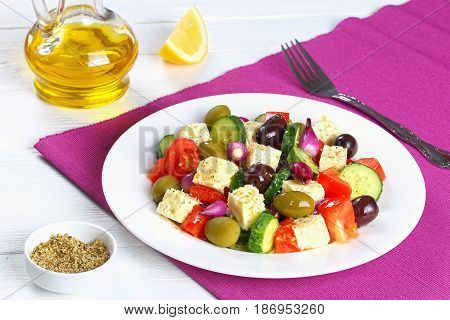 Fresh And Healthy Organic Greek Salad