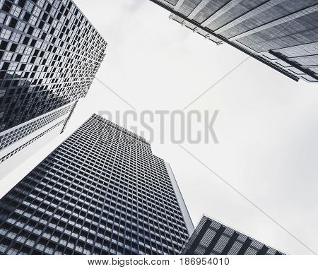 Architecture perspective Building sky scraper Business background cityscape