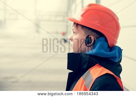 A Boy In Helmet