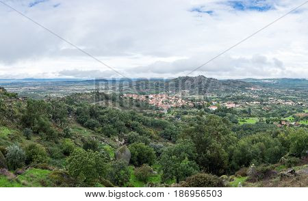 View on  the slope of mountain Monsanto Portugal