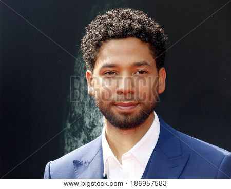 Jussie Smollett at the Los Angeles special screening of 'Alien: Covenant' held at the TCL Chinese Theatre IMAX in Hollywood, USA on May 17, 2017.