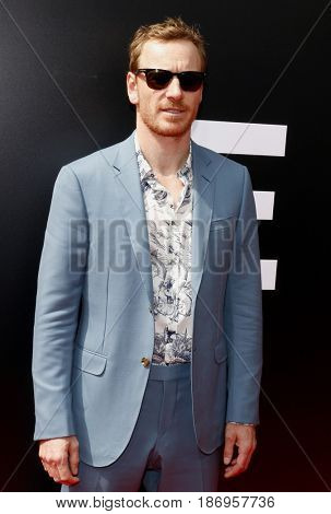 Michael Fassbender at the Los Angeles special screening of 'Alien: Covenant' held at the TCL Chinese Theatre IMAX in Hollywood, USA on May 17, 2017.