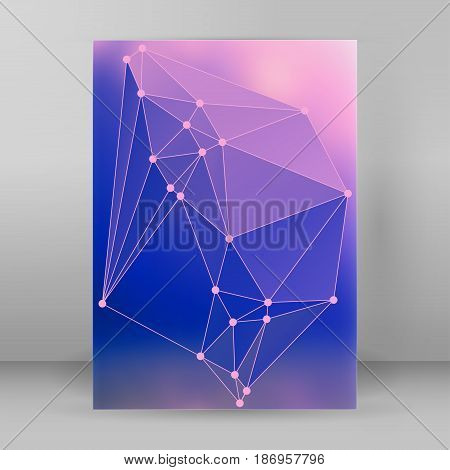 Modern Triangle Background 3D Effect Cover Page Brochure A4 Format11