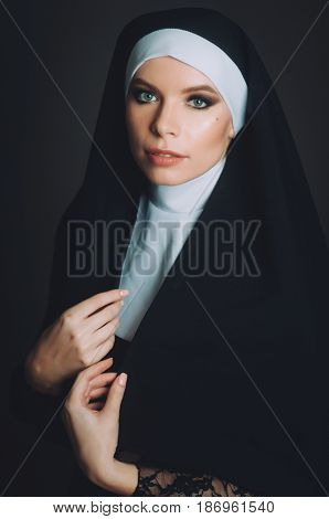 A Girl In The Image Of A Nun