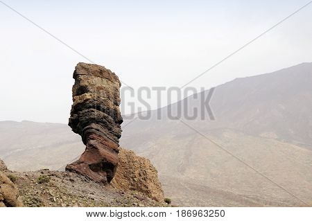 The Roque Cinchado at the Teide National Park in Tenerife Canary Islands Spain