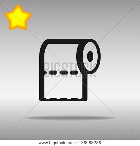 toilet paper black Icon button logo symbol concept high quality on the gray background
