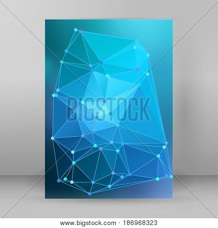 Modern Triangle Background 3D Effect Cover Page Brochure A4 Format17