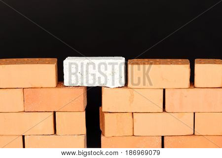 connection on a wall with white brick