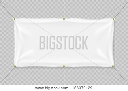 White Textile Banner Vector & Photo (Free Trial) | Bigstock