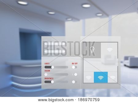 Digital composite of Office automation system App Interface