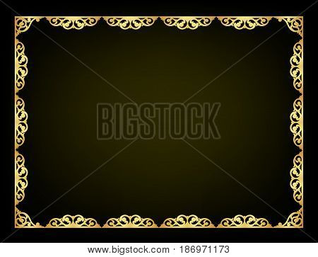 Abstract Oriental Ornament Decorate Vector