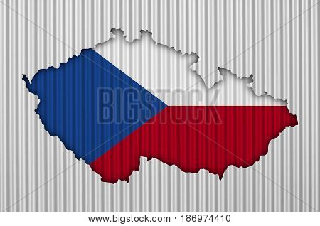 Textured Map Of Czech Republic In Nice Colors