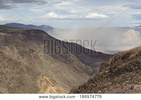 Distant Sandstorm - Death Valley National Park, California