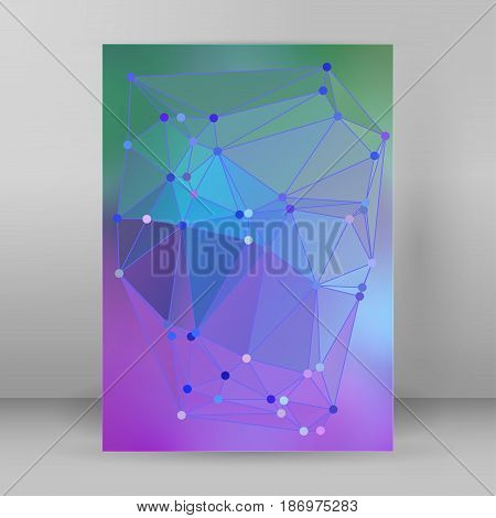 Modern Triangle Background 3D Effect Cover Page Brochure A4 Format14
