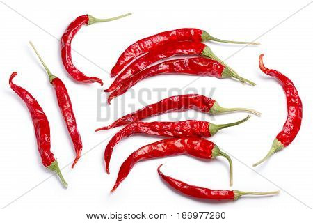 Dried De Arbol Chiles, Paths, Top View