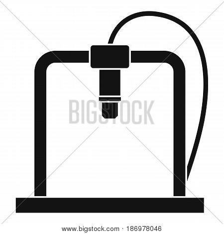3D printer frame icon in simple style isolated vector illustration