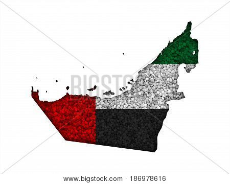 Map And Flag Of United Arab Emirates On Poppy Seeds