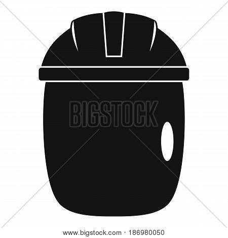 Glass welding mask icon in simple style isolated vector illustration