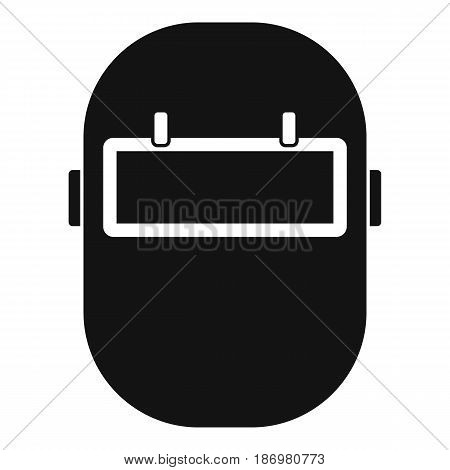 Welding mask icon in simple style isolated vector illustration